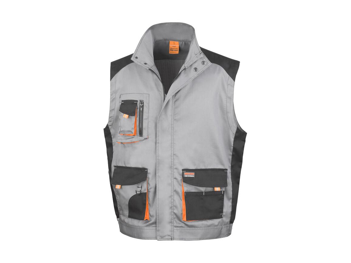 Result LITE Gilet, Grey/Black/Orange, XL bedrucken, Art.-Nr. 868331825