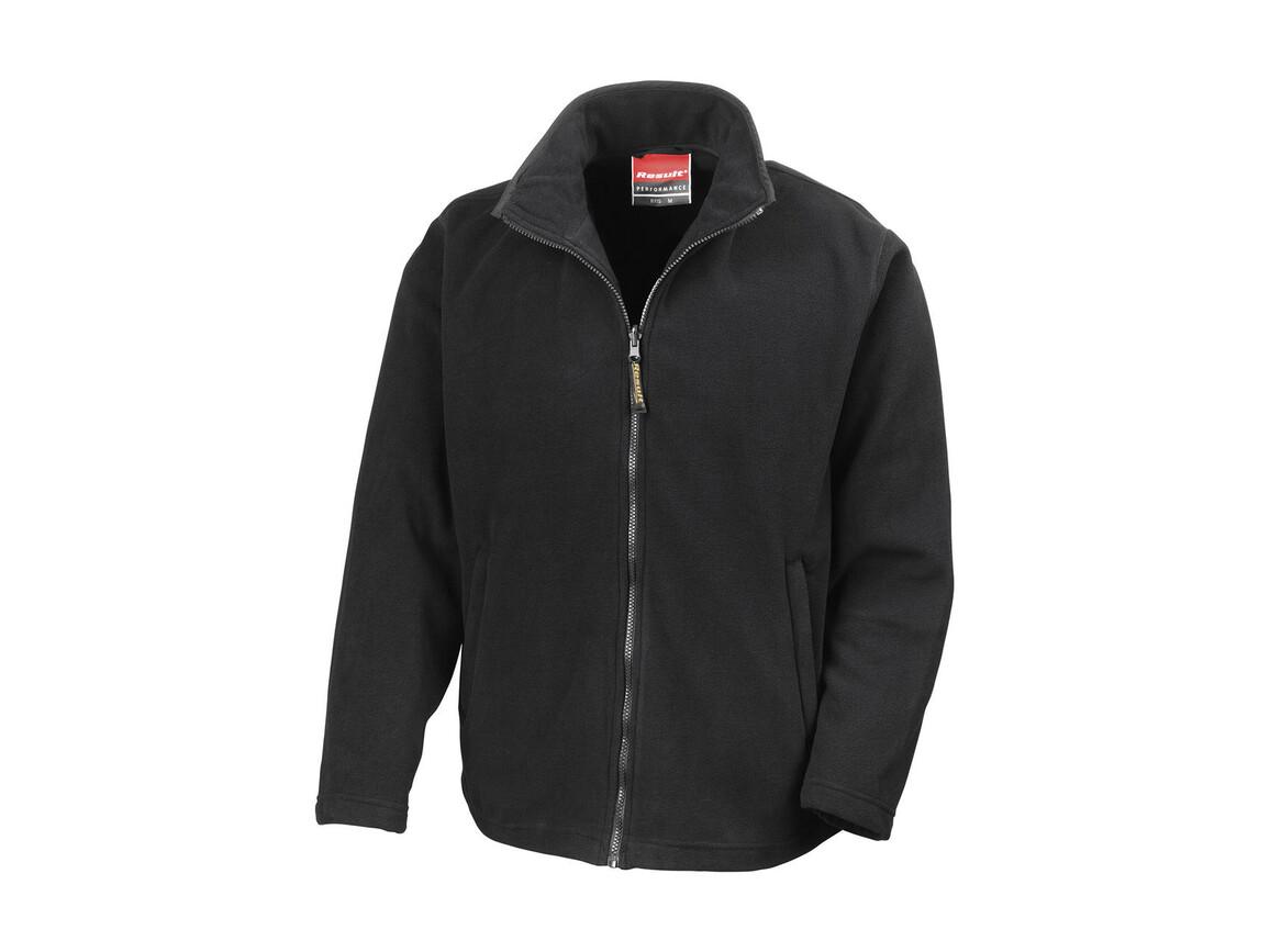 Result Horizon High Grade Microfleece Jacket, Black, 2XL bedrucken, Art.-Nr. 870331017