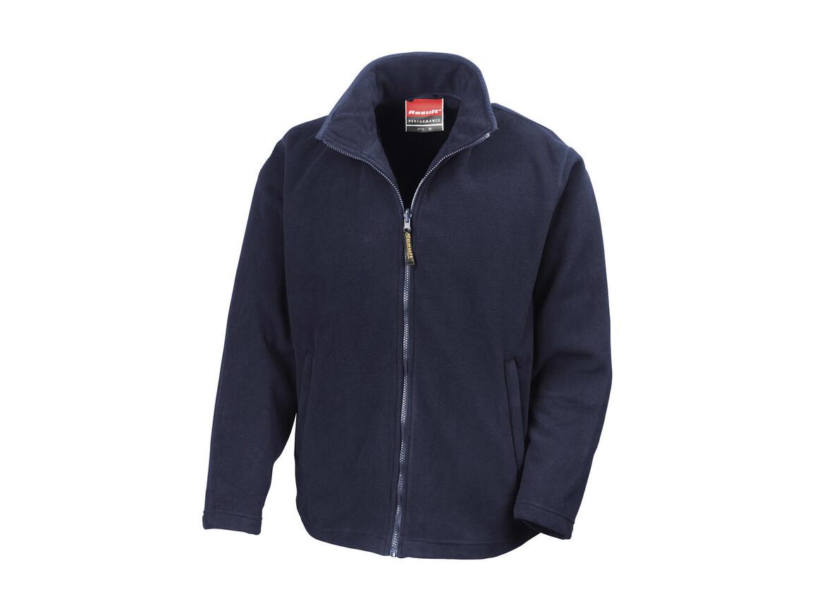 Result Horizon High Grade Microfleece Jacket, Navy, S bedrucken, Art.-Nr. 870332003