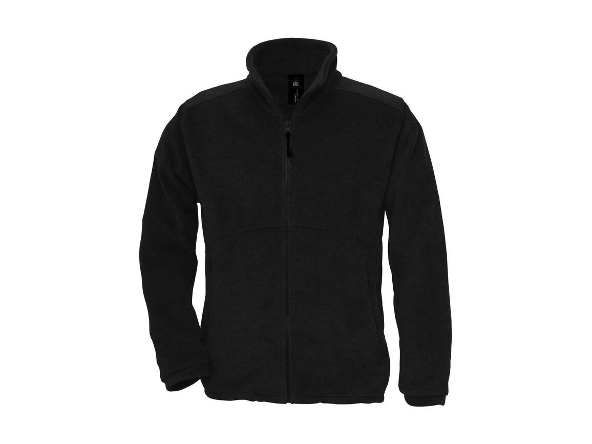 B & C Icewalker+ Outdoor Full Zip Fleece, Black, XS bedrucken, Art.-Nr. 870421012
