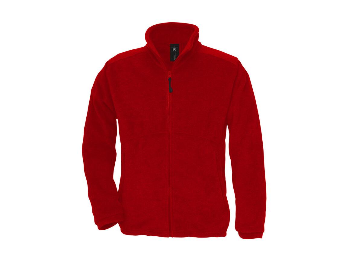 B & C Icewalker+ Outdoor Full Zip Fleece, Red, XS bedrucken, Art.-Nr. 870424002