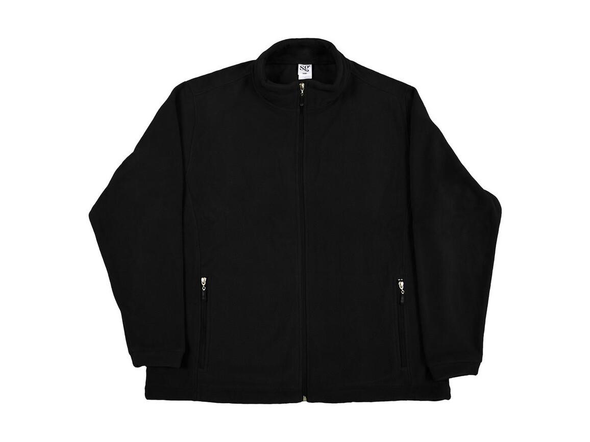 SG Full Zip Fleece, Black, 4XL bedrucken, Art.-Nr. 870521019