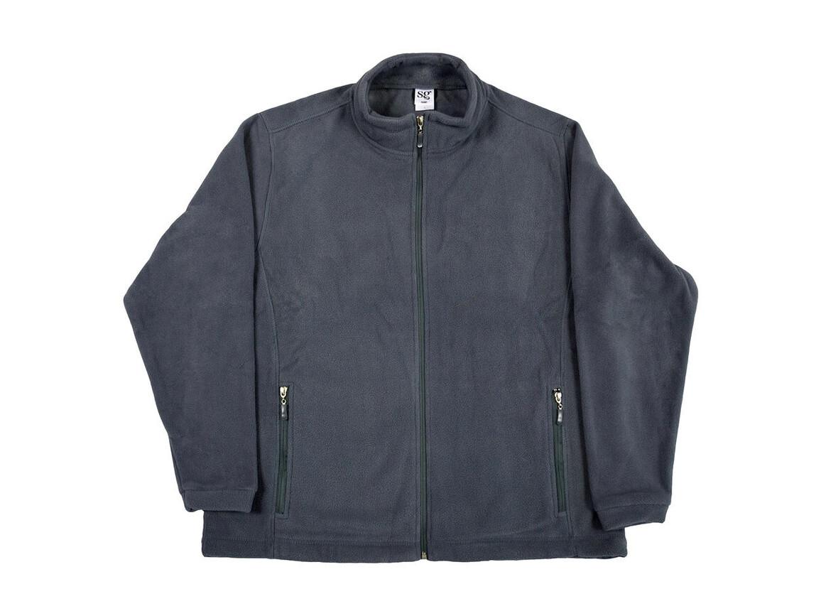 SG Full Zip Fleece, Grey, L bedrucken, Art.-Nr. 870521215