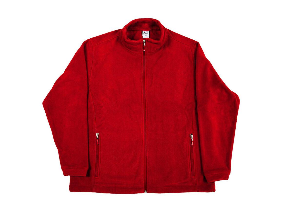 SG Full Zip Fleece, Red, L bedrucken, Art.-Nr. 870524005