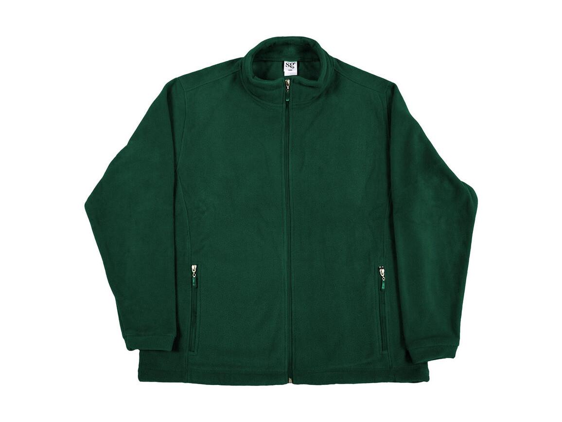 SG Full Zip Fleece, Bottle Green, 2XL bedrucken, Art.-Nr. 870525407