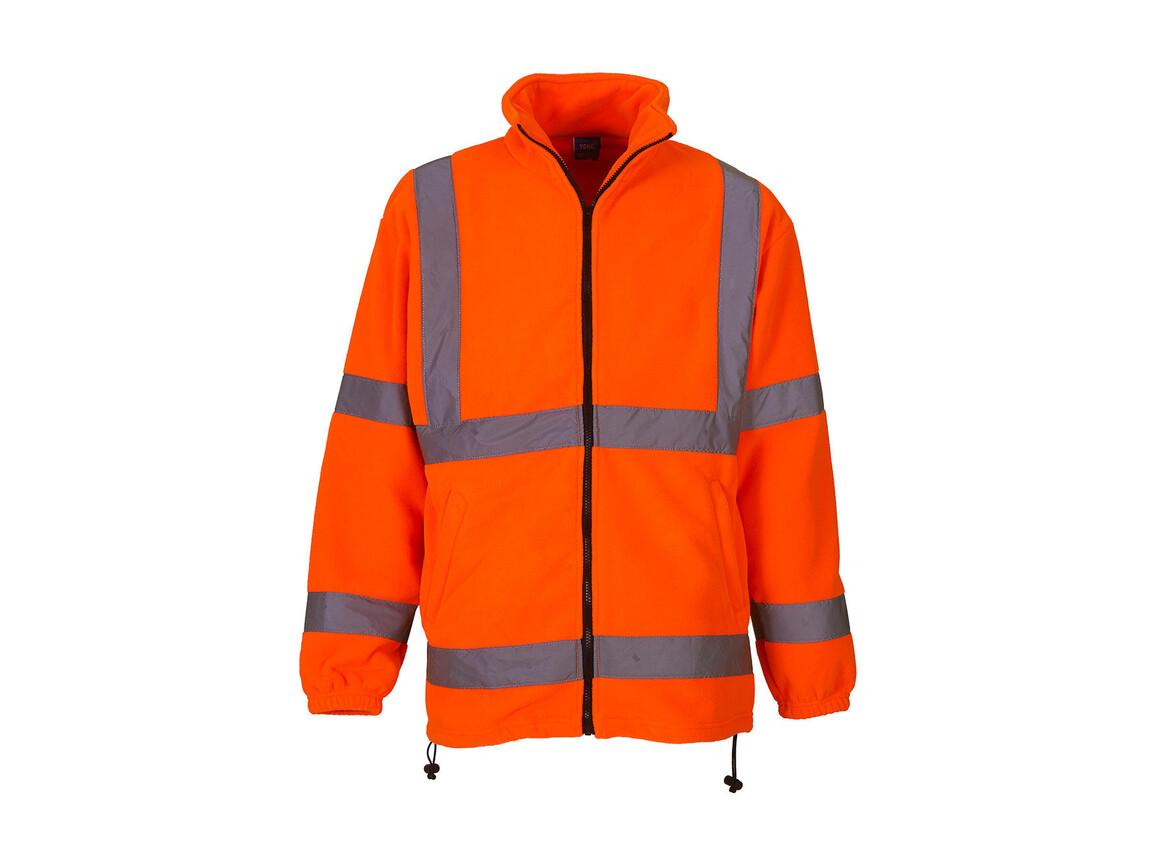 Yoko Fluo Fleece Jacket, Fluo Orange, XL bedrucken, Art.-Nr. 877774054