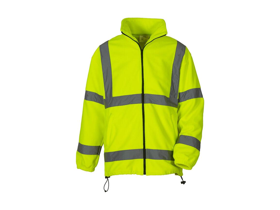 Yoko Fluo Fleece Jacket, Fluo Yellow, M bedrucken, Art.-Nr. 877776052