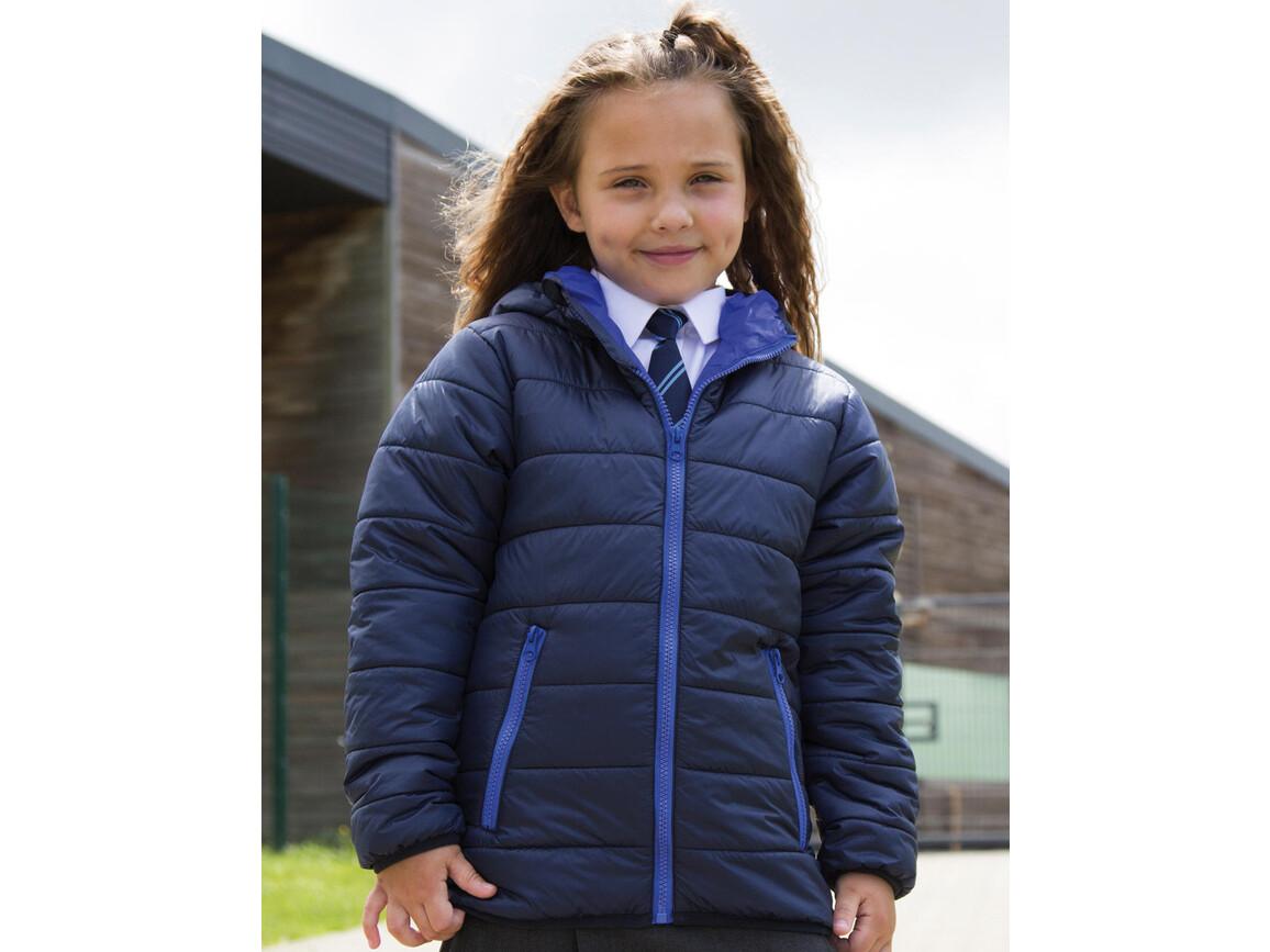 Result Junior/Youth Soft Padded Jacket, Black, L (9-10) bedrucken, Art.-Nr. 881331015