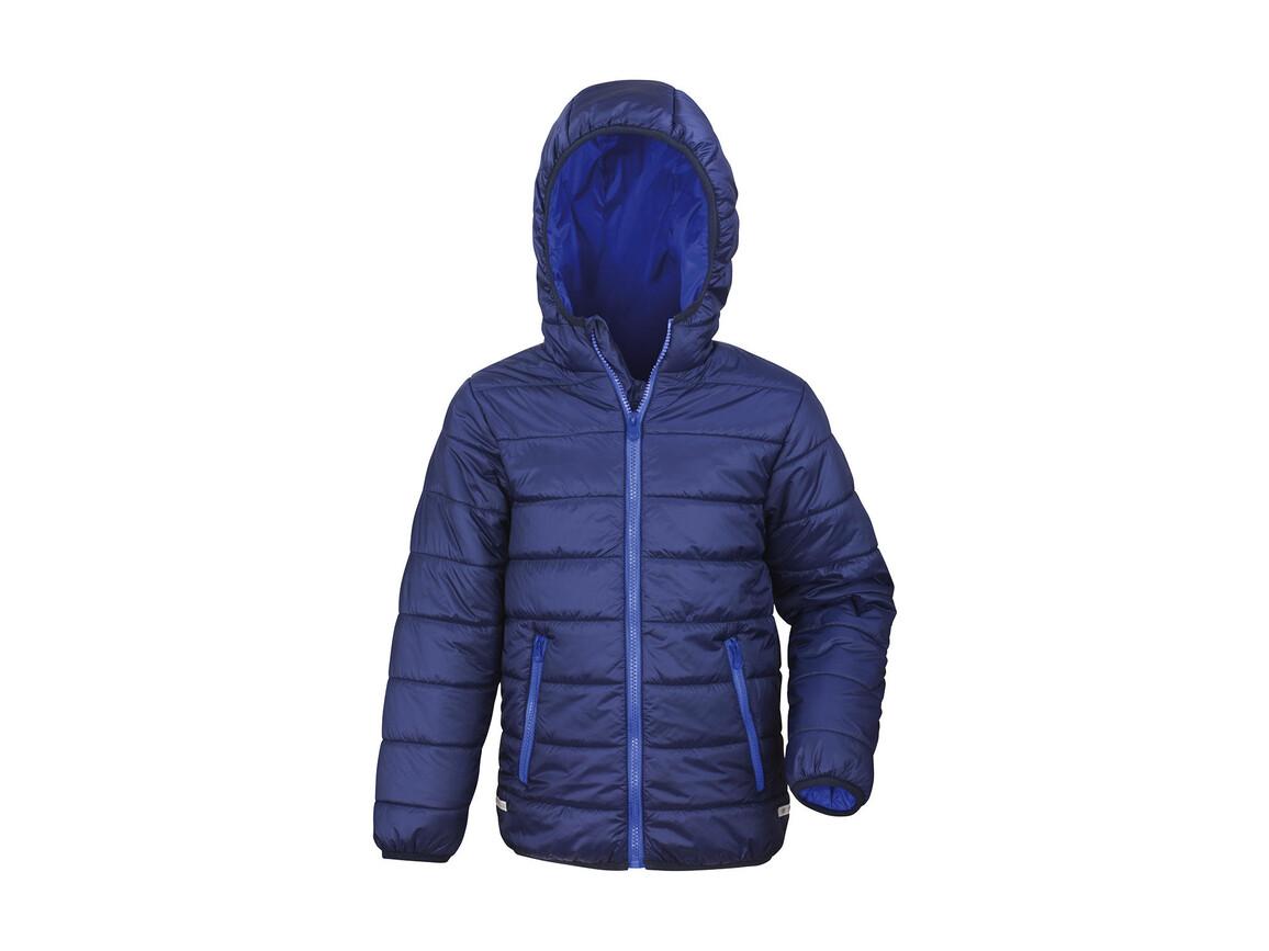 Result Junior/Youth Soft Padded Jacket, Navy/Royal, 2XS (2-3) bedrucken, Art.-Nr. 881332371