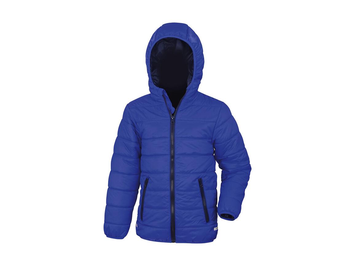 Result Junior/Youth Soft Padded Jacket, Royal/Navy, L (9-10) bedrucken, Art.-Nr. 881333665