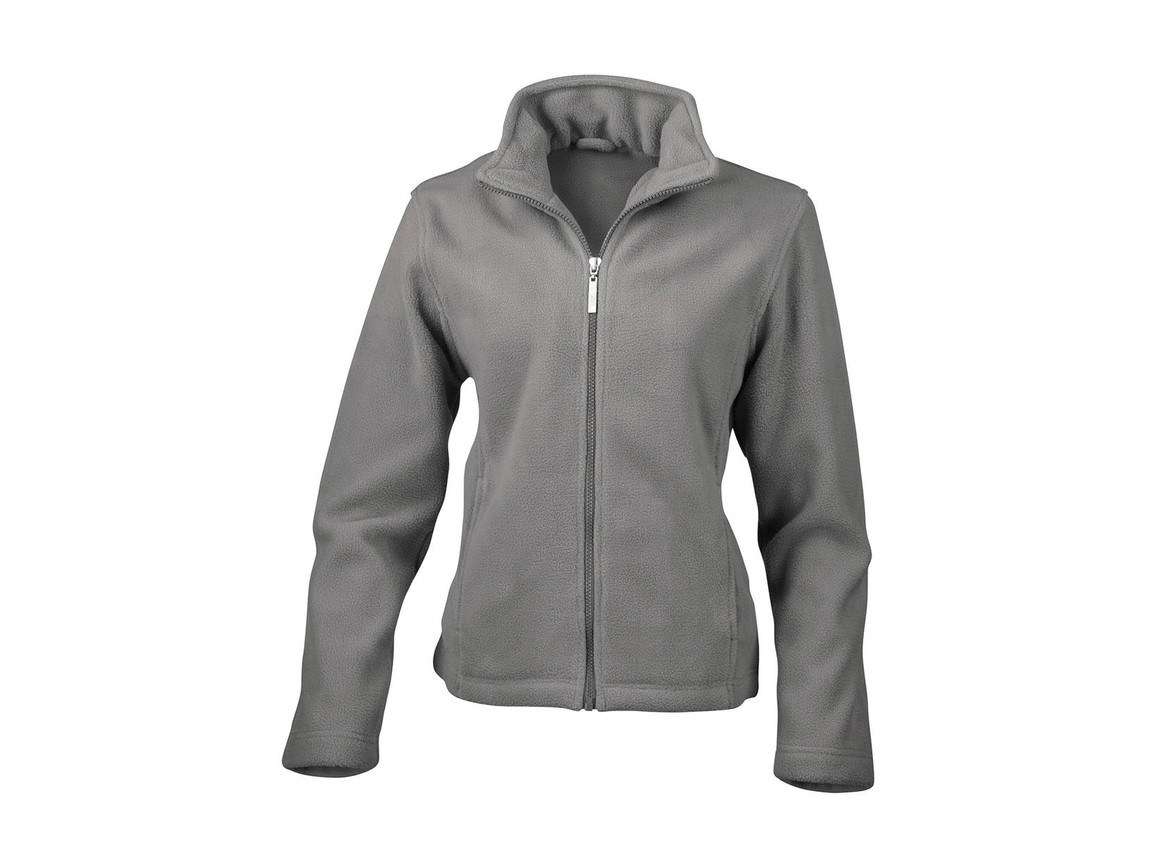 Result Ladies` Fleece Jacket, Grey, XS bedrucken, Art.-Nr. 885331212
