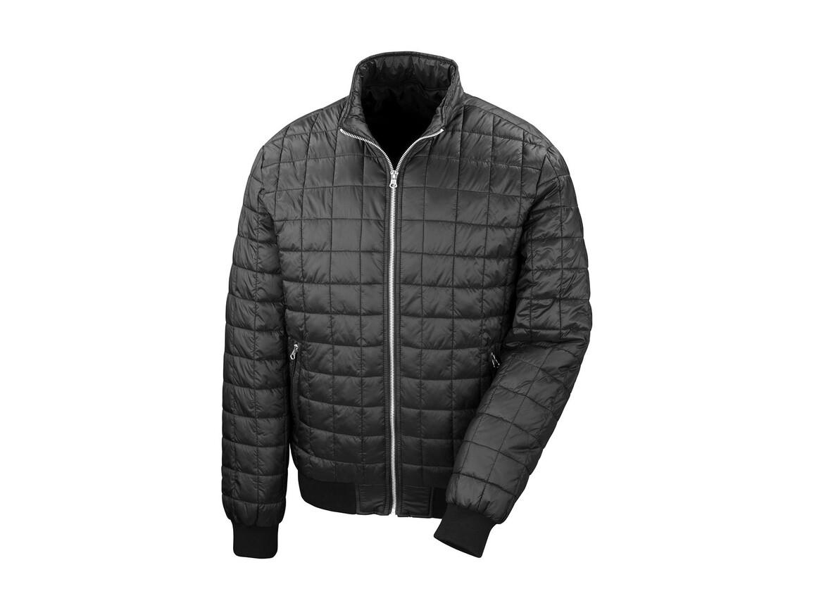 Result Stealth Hooded Jacket, Black, L bedrucken, Art.-Nr. 887331015