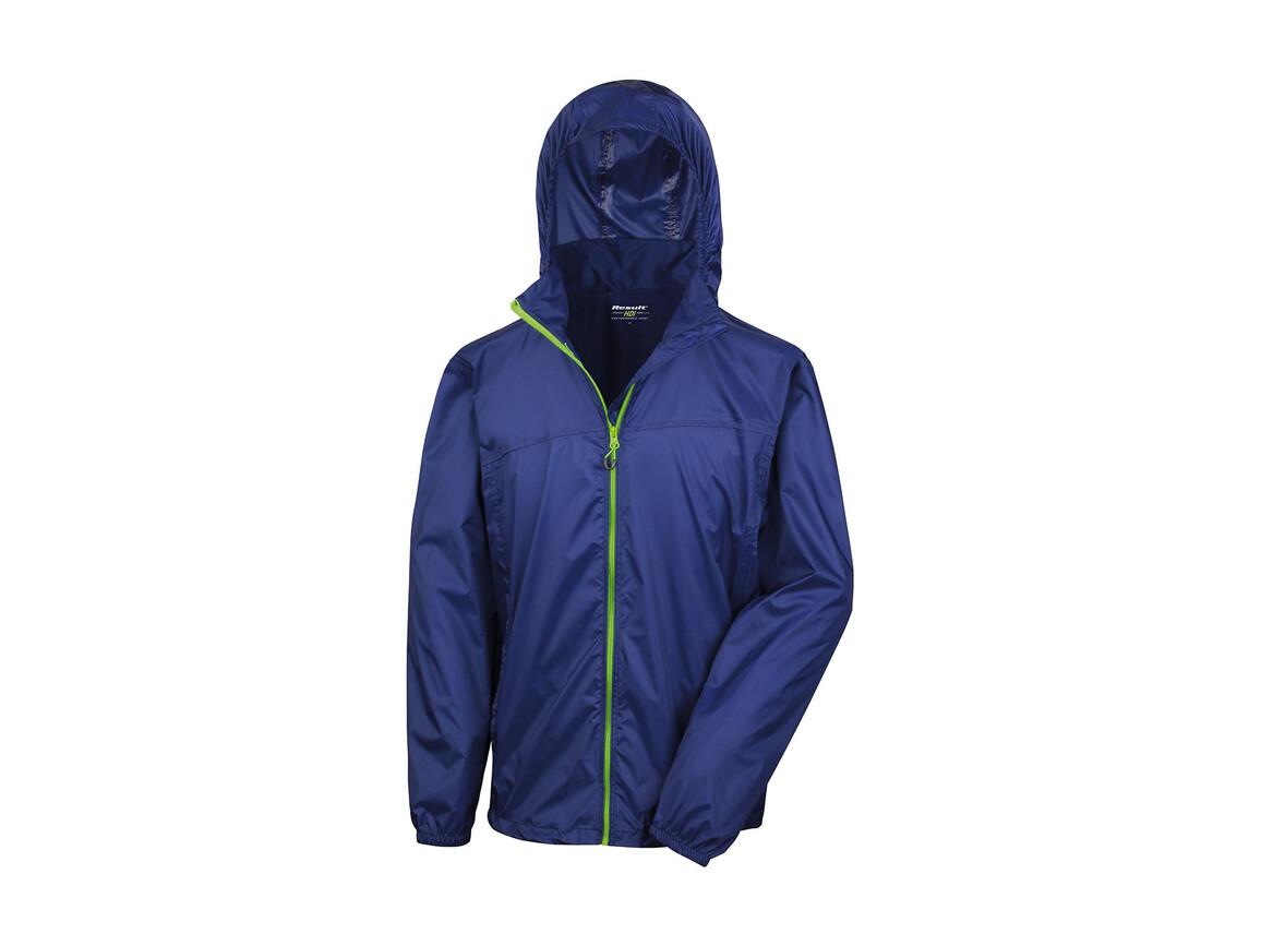 Result Hdi Quest Lightweight Stowable Jacket, Navy/Lime, M bedrucken, Art.-Nr. 889332564