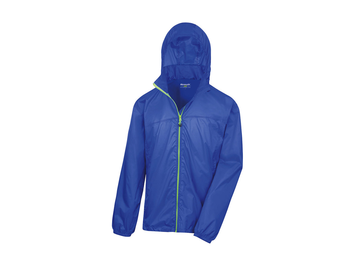 Result Hdi Quest Lightweight Stowable Jacket, Royal/Lime, M bedrucken, Art.-Nr. 889333654