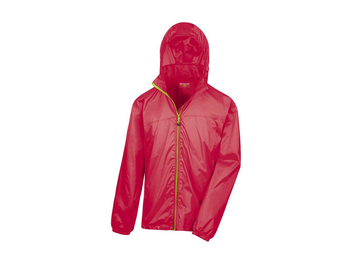 Result Hdi Quest Lightweight Stowable Jacket, Raspberry/Lime, L bedrucken, Art.-Nr. 889334625