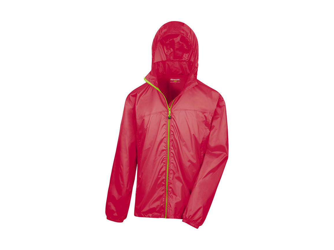 Result Hdi Quest Lightweight Stowable Jacket, Raspberry/Lime, XS bedrucken, Art.-Nr. 889334622