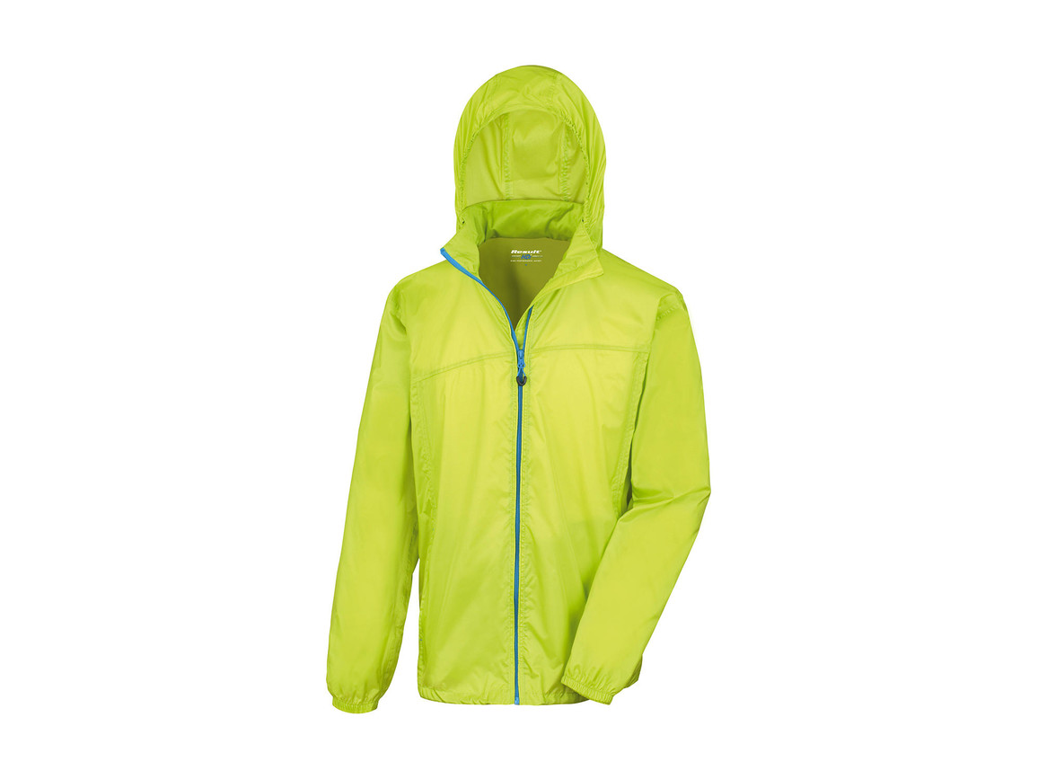 Result Hdi Quest Lightweight Stowable Jacket, Lime/Royal, L bedrucken, Art.-Nr. 889335755