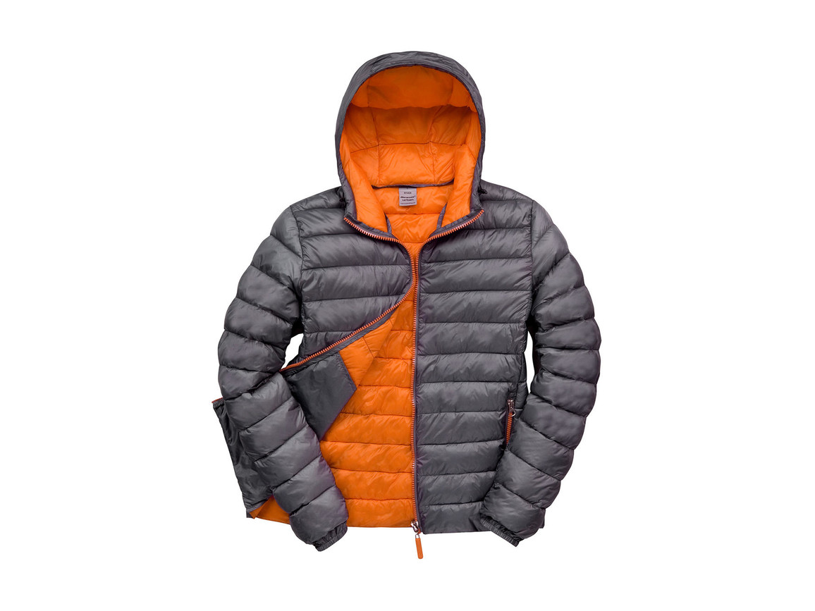 Result Snow Bird Hooded Jacket, Grey/Orange, 2XL bedrucken, Art.-Nr. 891331627