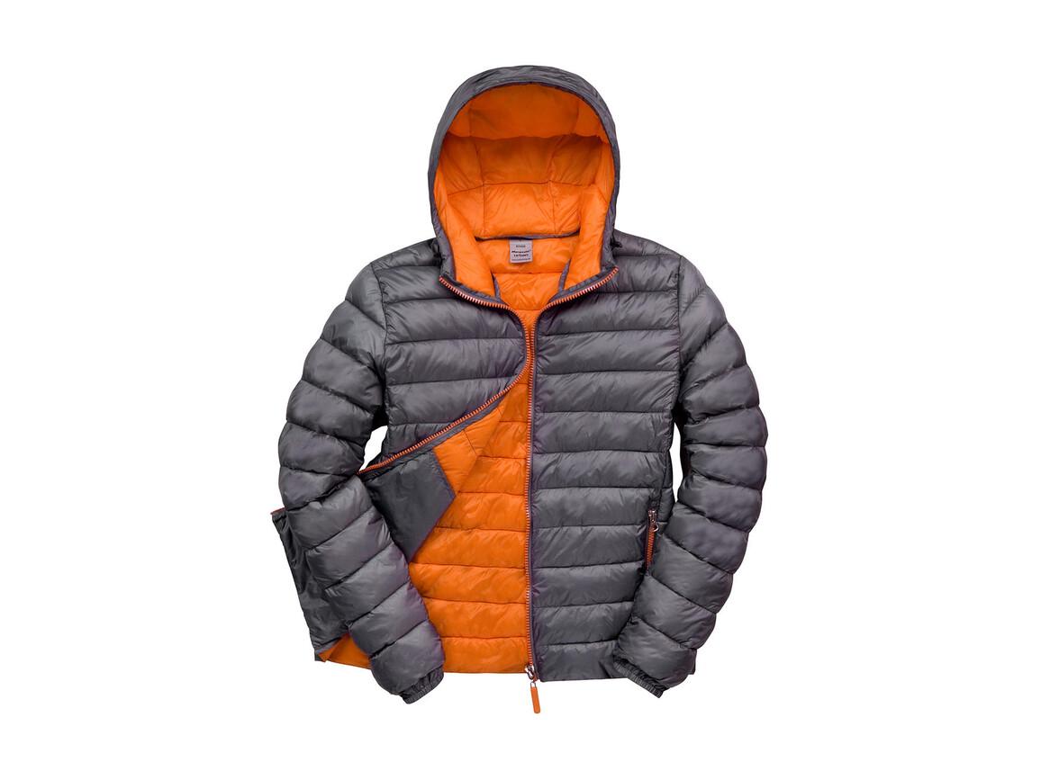 Result Snow Bird Hooded Jacket, Grey/Orange, S bedrucken, Art.-Nr. 891331623