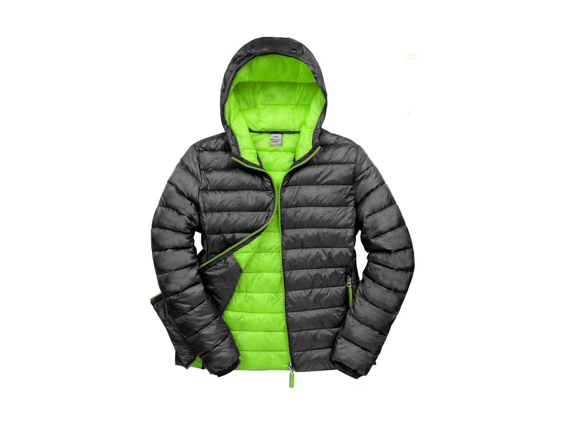 Result Snow Bird Hooded Jacket, Black/Lime, 2XL bedrucken, Art.-Nr. 891331717