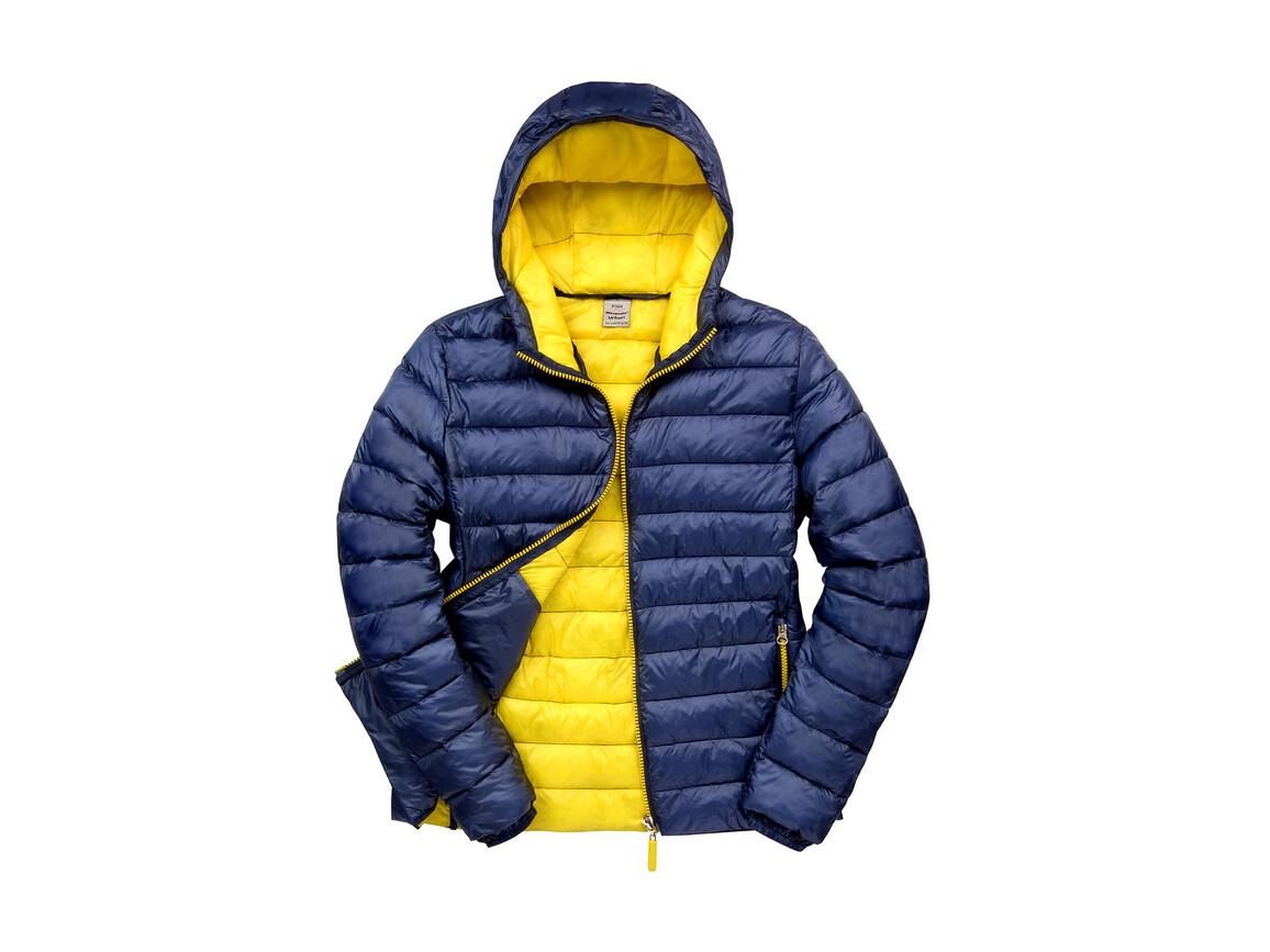 Result Snow Bird Hooded Jacket, Navy/Yellow, S bedrucken, Art.-Nr. 891332723