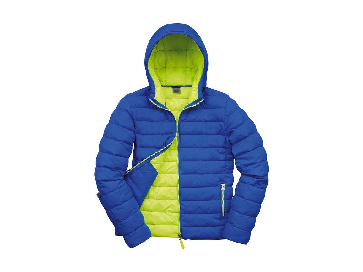 Result Snow Bird Hooded Jacket, Ocean Blue/Lime Punch, L bedrucken, Art.-Nr. 891333585