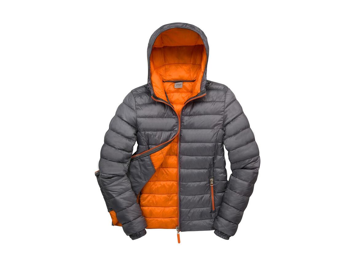 Result Ladies` Snow Bird Hooded Jacket, Grey/Orange, 2XL (18) bedrucken, Art.-Nr. 894331627