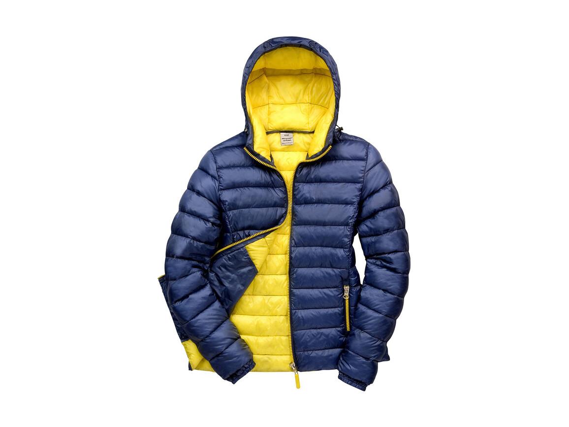 Result Ladies` Snow Bird Hooded Jacket, Navy/Yellow, M (12) bedrucken, Art.-Nr. 894332724