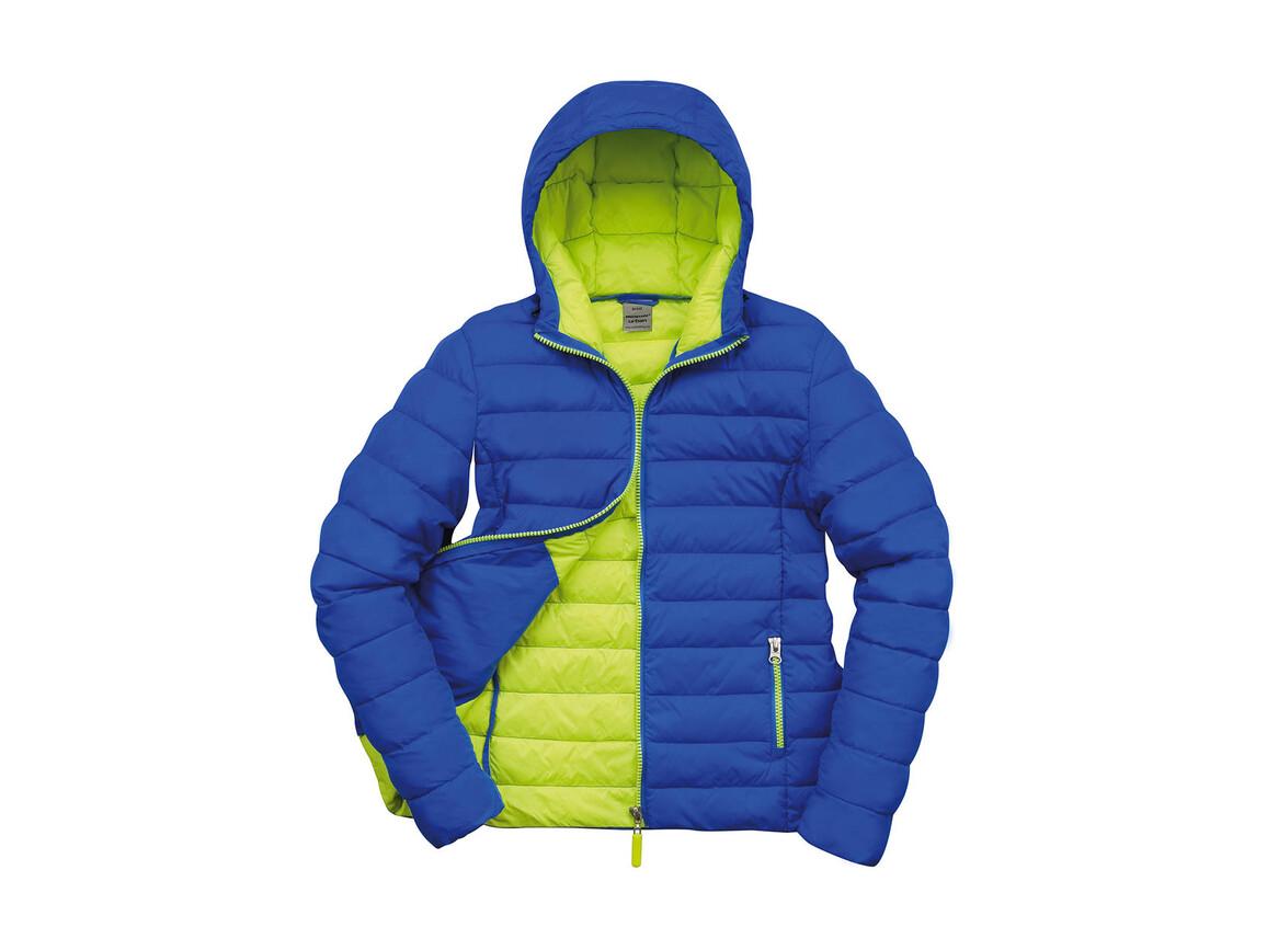 Result Ladies` Snow Bird Hooded Jacket, Ocean Blue/Lime Punch, L (14) bedrucken, Art.-Nr. 894333585