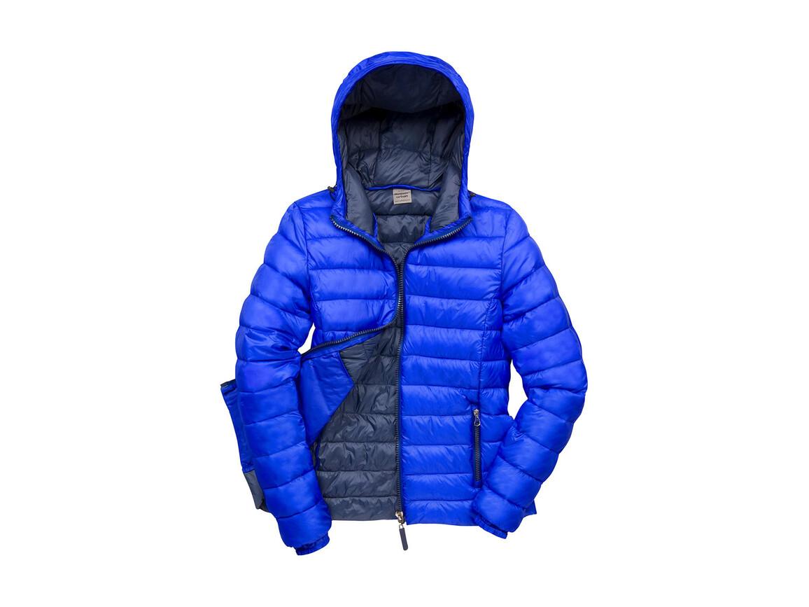 Result Ladies` Snow Bird Hooded Jacket, Royal/Navy, XS (8) bedrucken, Art.-Nr. 894333662