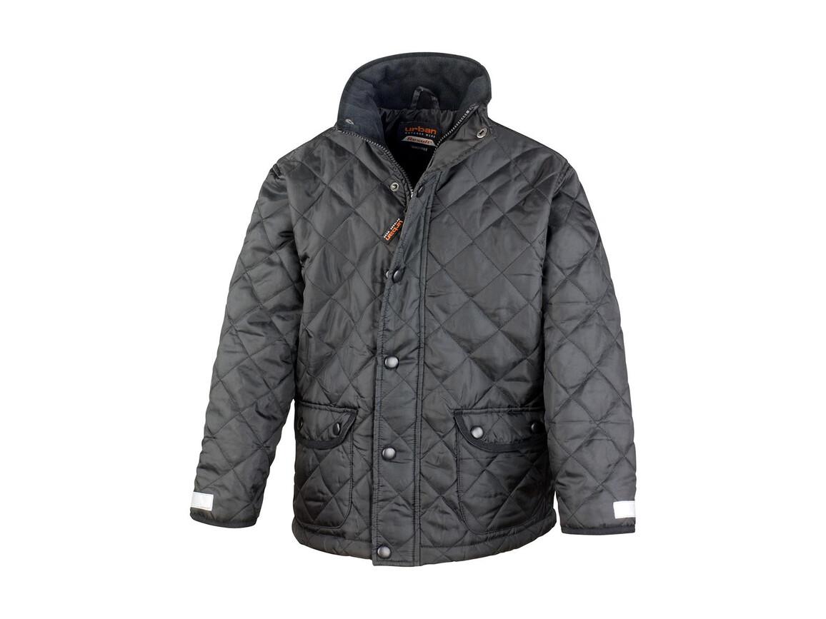 Result Junior Cheltenham Jacket, Black, L (9-10) bedrucken, Art.-Nr. 895331015