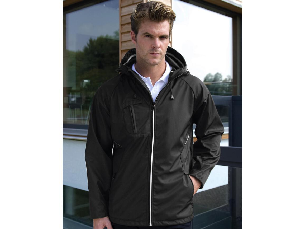 Result NY Hard Shell Jacket, Black, XL bedrucken, Art.-Nr. 897331016