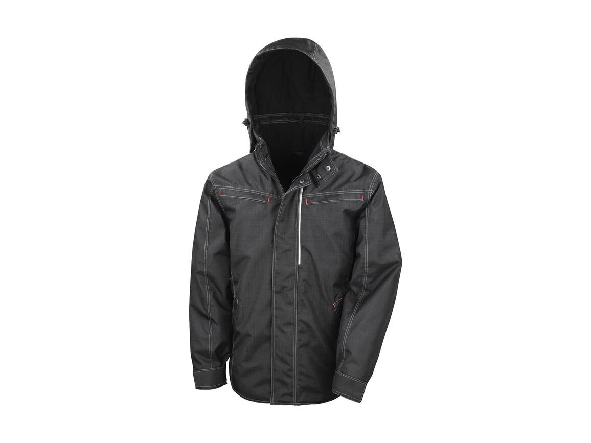 Result Denim Texture Rugged Jacket, Black, 3XL bedrucken, Art.-Nr. 898331018