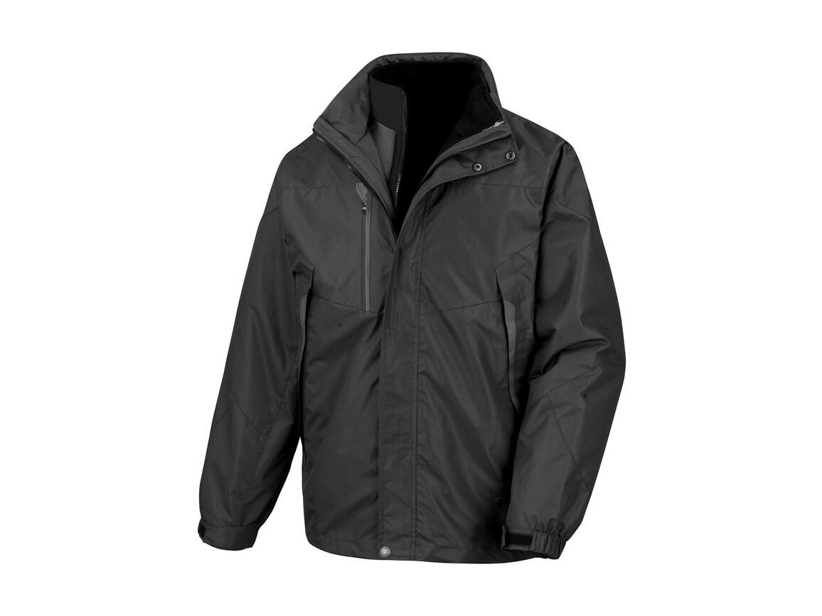 Result 3-in-1 Aspen Jacket, Black, M bedrucken, Art.-Nr. 899331014