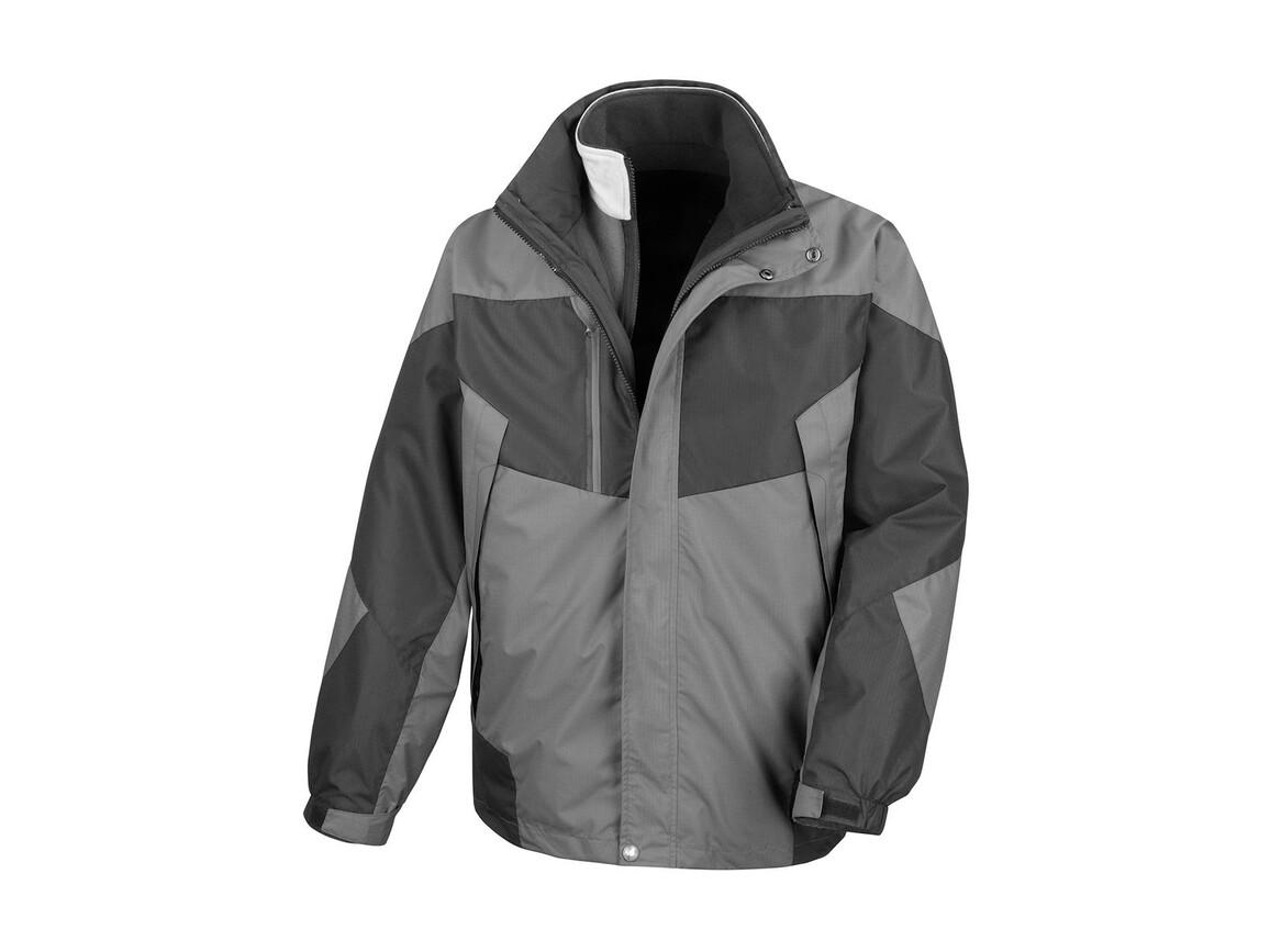 Result 3-in-1 Aspen Jacket, Grey/Black, M bedrucken, Art.-Nr. 899331484