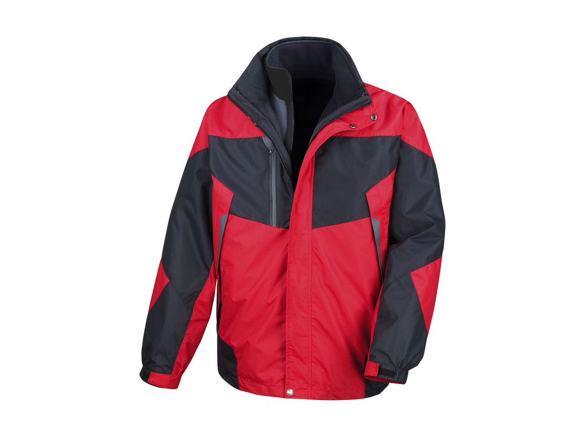 Result 3-in-1 Aspen Jacket, Red/Black, 3XL bedrucken, Art.-Nr. 899334518