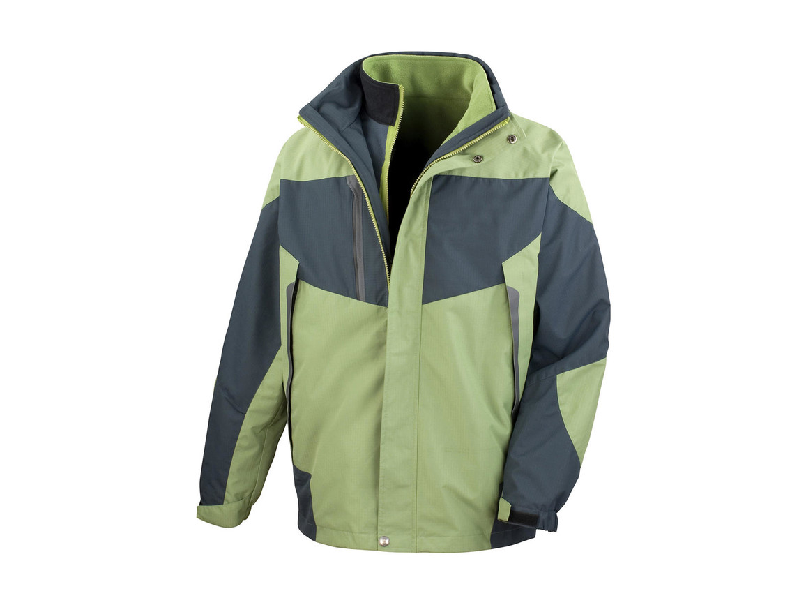 Result 3-in-1 Aspen Jacket, Aspen Green/Grey, 2XL bedrucken, Art.-Nr. 899335537