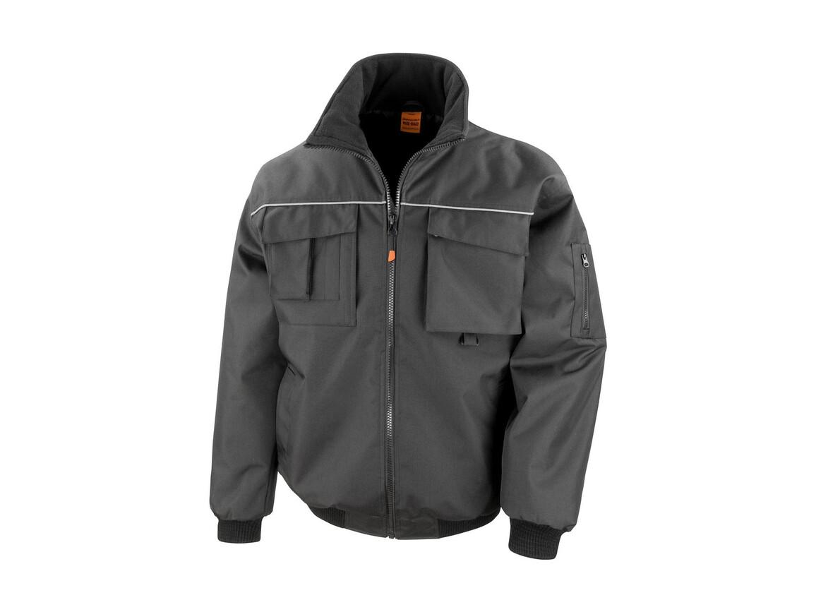 Result Work-Guard Sabre Pilot Jacket, Black, 2XL bedrucken, Art.-Nr. 900331017