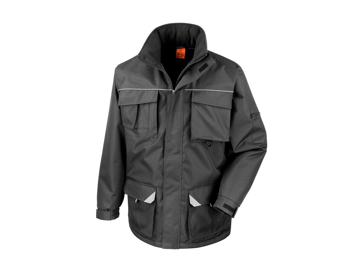 Result Work-Guard Sabre Long Coat, Black, L bedrucken, Art.-Nr. 901331015