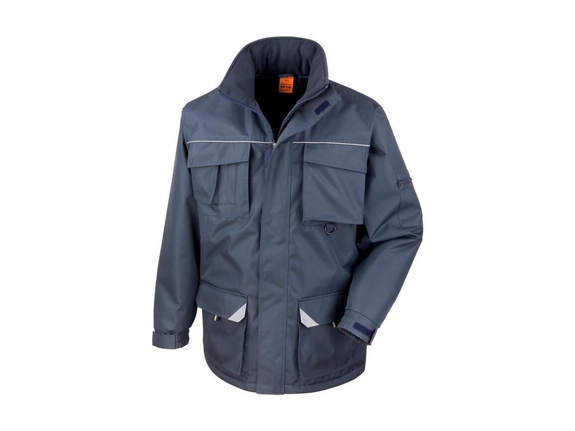 Result Work-Guard Sabre Long Coat, Navy, L bedrucken, Art.-Nr. 901332005
