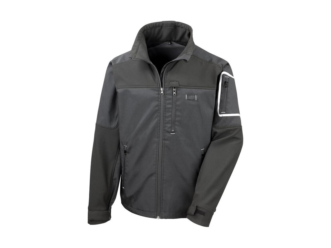 Result Work-Guard Sabre Stretch Jacket, Black, XL bedrucken, Art.-Nr. 902331016