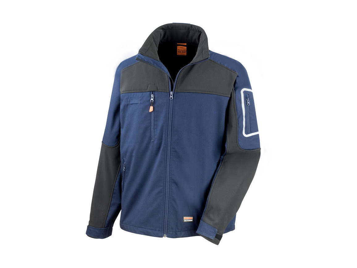 Result Work-Guard Sabre Stretch Jacket, Navy/Black, 4XL bedrucken, Art.-Nr. 902332409