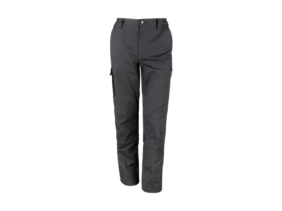 "Result Work-Guard Stretch Trousers Reg, Black, 2XL (40/32"") bedrucken, Art.-Nr. 903331015"