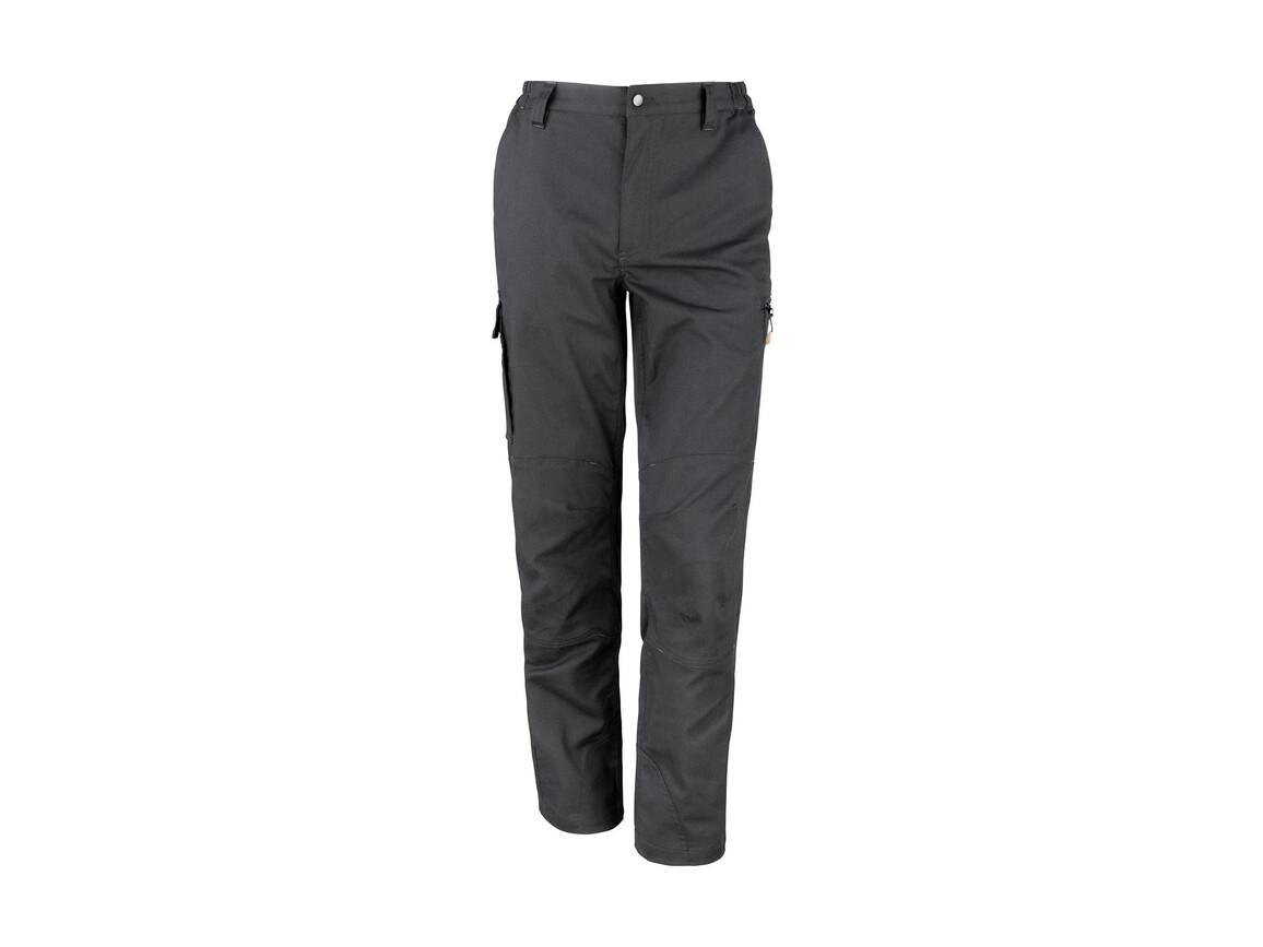 "Result Work-Guard Stretch Trousers Reg, Black, XL (38/32"") bedrucken, Art.-Nr. 903331014"