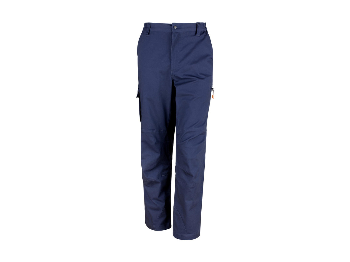 "Result Work-Guard Stretch Trousers Reg, Navy, 2XL (40/32"") bedrucken, Art.-Nr. 903332005"