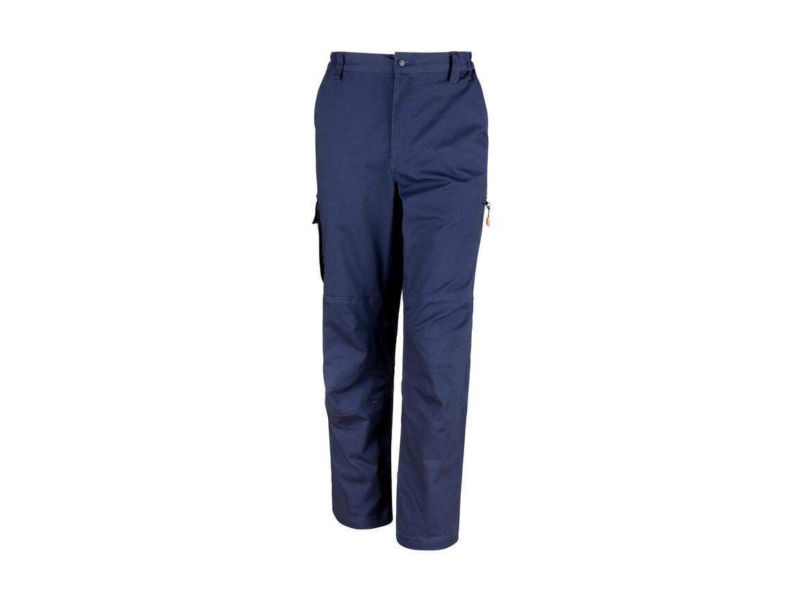 "Result Work-Guard Stretch Trousers Reg, Navy, M (34/32"") bedrucken, Art.-Nr. 903332002"