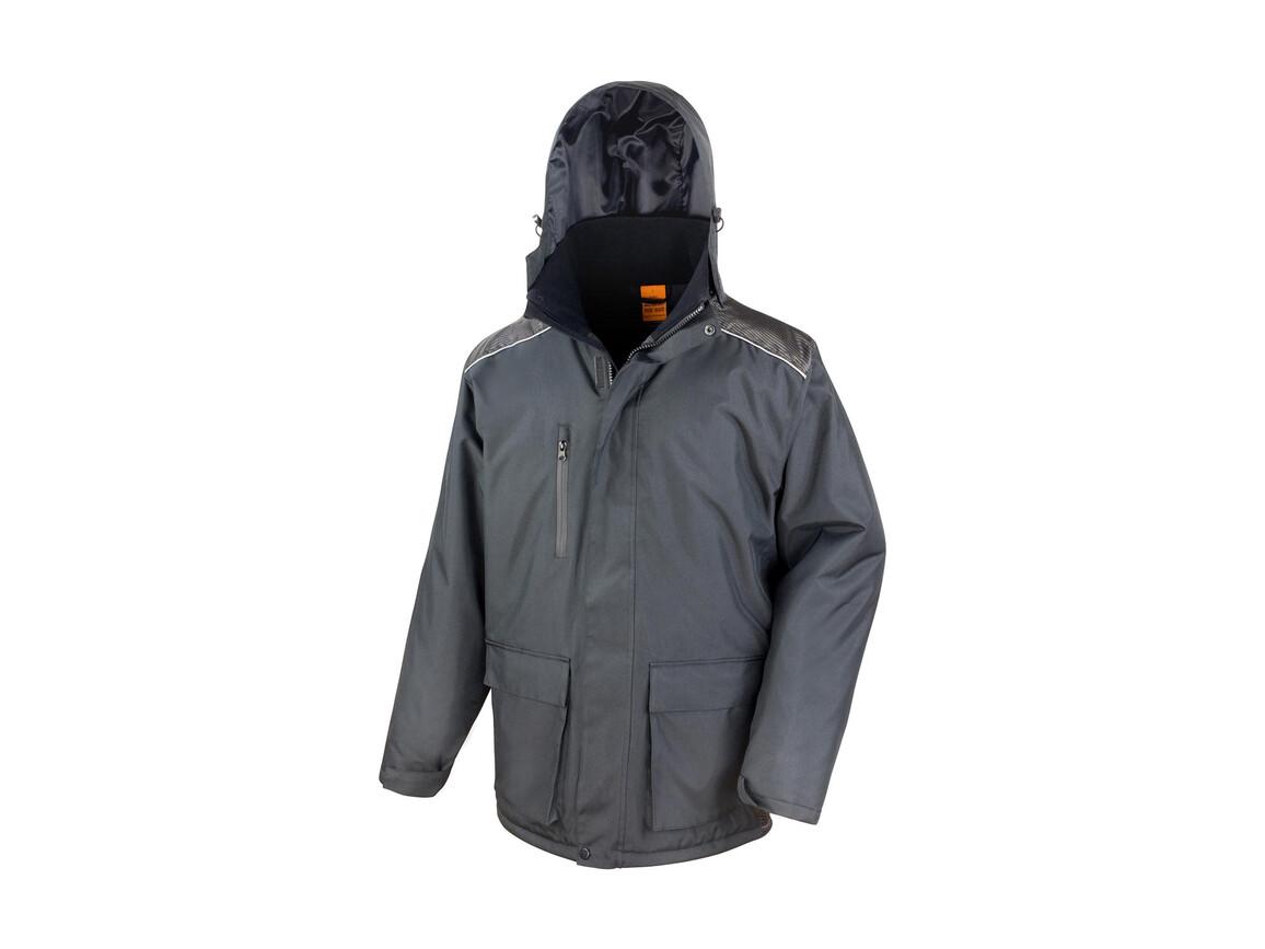 Result Work-Guard Vostex Long Coat, Black, 2XL bedrucken, Art.-Nr. 905331017
