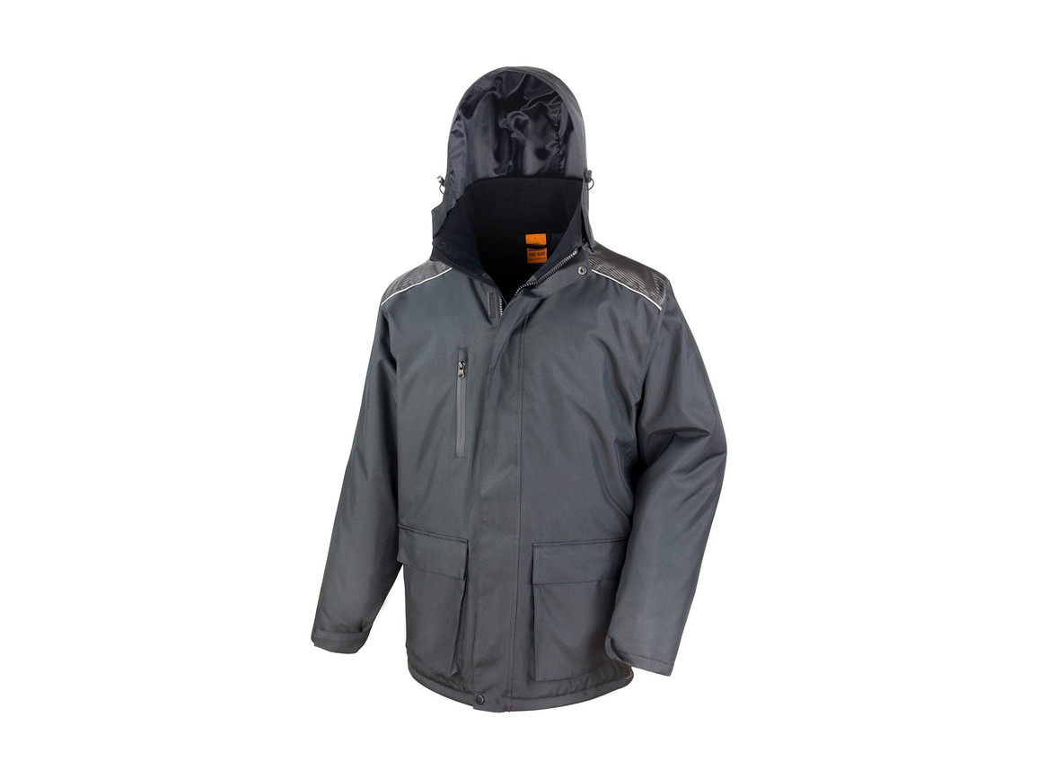 Result Work-Guard Vostex Long Coat, Black, 4XL bedrucken, Art.-Nr. 905331019