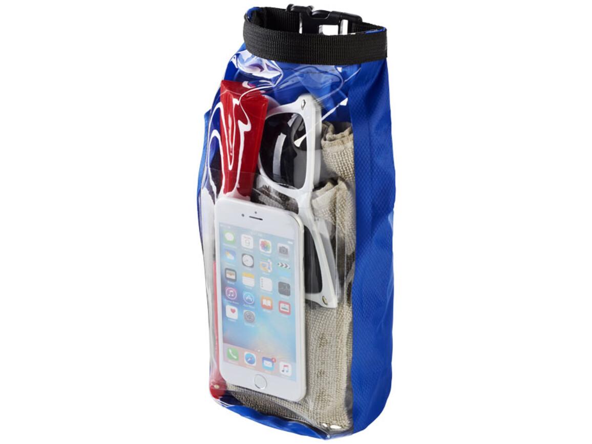 Tourist 2 l wasserdichte Outdoor-Tasche mit Telefonhülle, royalblau bedrucken, Art.-Nr. 10055301