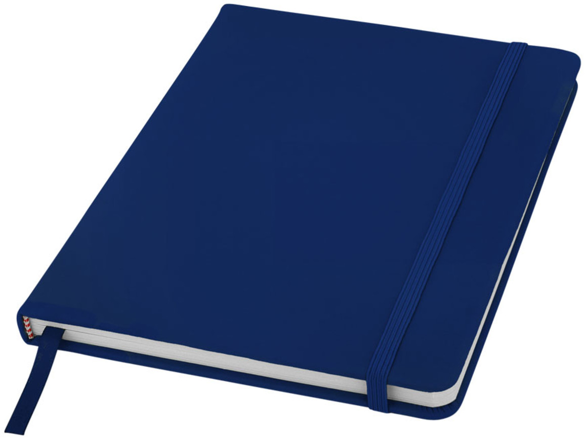 Spectrum A5 Notizbuch mit leeren Seiten, navy bedrucken, Art.-Nr. 10709101